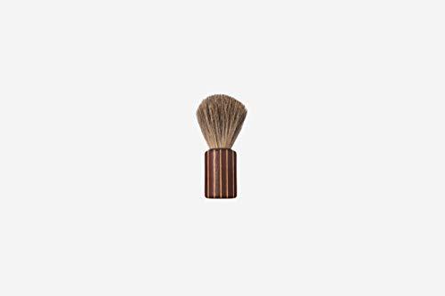 Blaireau de blaireau cylindrique en poils de blaire/bordeaux Jaune