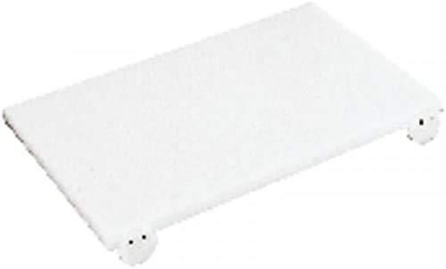 PADERNO Tabla de Corte Profesional en Polietileno, Higiénica y Antihumedad, Práctica, Manejable y Resistente. con Topes, Color Blanco, 40 x 30 cm