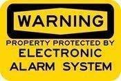 DKISEE Señal de metal de aluminio con texto en inglés 'Warning Property Protected by Electronic Alarm System' (25,4 x 35,5 cm)