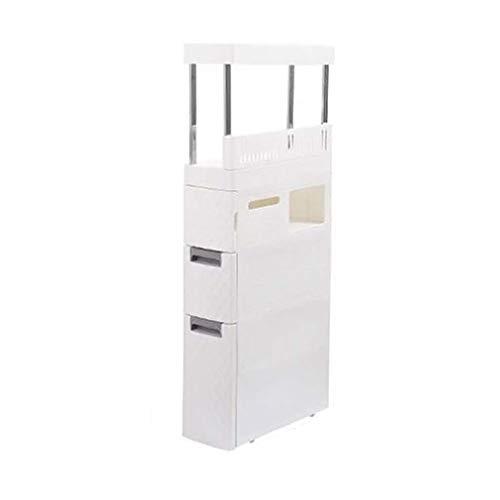 Badkamerplanken voor de vloer, smalle opslag, met verborgen laden, voor grote shampoo, cosmetica, keuken, badkamer, slaapkamer, goud. Baño 10 Correas