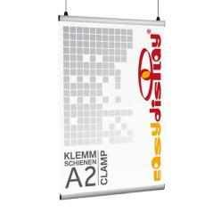 Plakatschienen, Clamp, Posterschienen DIN A2/ 42cm Klemmschienen, Posterklemmen
