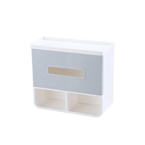 CML Salle de Bains Toilettes Porte-Papier Téléphone Mobile Tissu Boîte Support de Rangement Boîte Container Facile à Placer (Color : Gray)