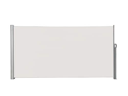 albe Seitenmarkise ausziehbar 300x160 Beige Sichtschutz Terrrassse Privatsphäre Seitenwandmarkise
