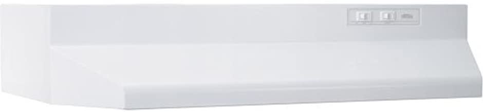 Broan-NuTone 403001 Range Hood Insert with Light, White Exhaust Fan for Under Cabinet, 6.5 Sones, 160 CFM, 30