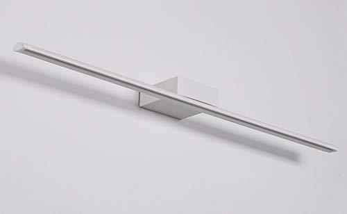 60 x 5 cm moderne LED spiegellamp bad design spiegellicht helder spiegellampen metaal acryl badkamerwandlamp badkamer make-up spiegel drie-kleuren licht IP44 12W 840LM [energieklasse A++]