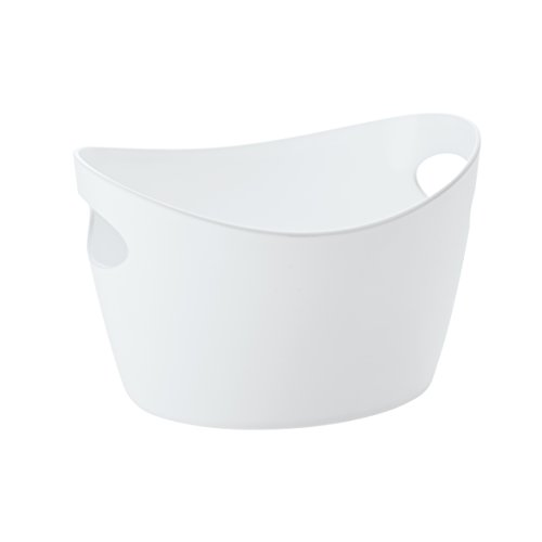 koziol Utensilo 1,5 L Bottichelli S, Kunststoff, solid weiß, 18,8 x 23 x 13 cm