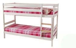 silenta Etagenbett Trend, weiß, 2 Roste, teilbar in 2 baugleiche Betten, Massivholzmöbel aus nachhaltiger Waldwirtschaft