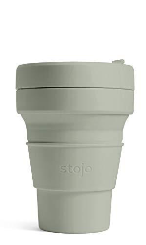 ストージョ(stojo) 折りたたみ タンブラー POCKET CUP 355ml セージ ふた付き
