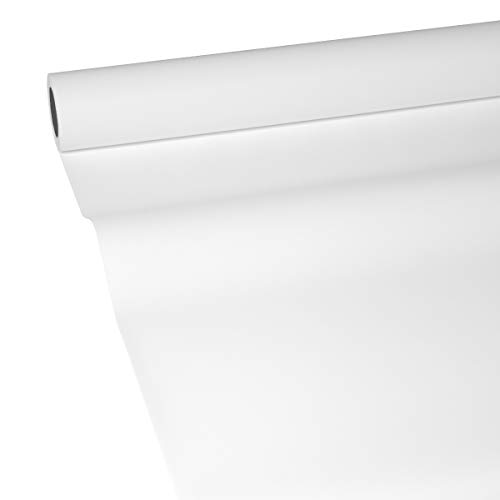 JUNOPAX 50m x 1,15m Papiertischdecke weiß | nass- und wischfest