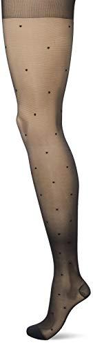 Dim, Perfect Contention Collants Plumetis, 25D - Femme, Noir, 1