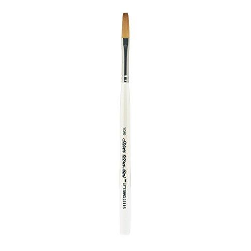Silver Brush 2411S-10/0 Ultra Mini Short Handle Golden Taklon Brush, One Stroke, Size 10/0