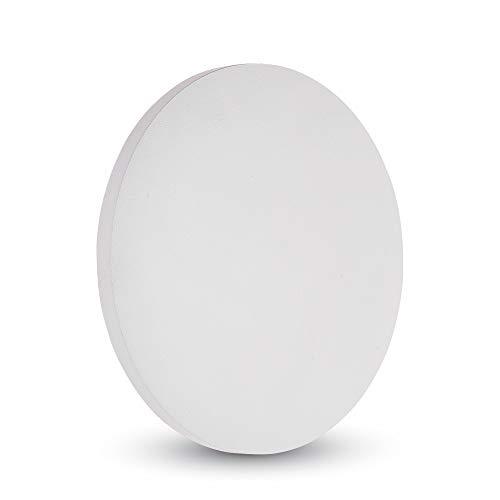 V-TAC 6W Dekorative LED runde Wandleuchte Backlit Wasserfest, Weiß Druckguss-Aluminium Gehäuse IP65 – Sensorkompatibel moderne Leuchte für Wohnzimmer, Schlafzimmer, Außenbereiche 4000K Tageslichtweiß