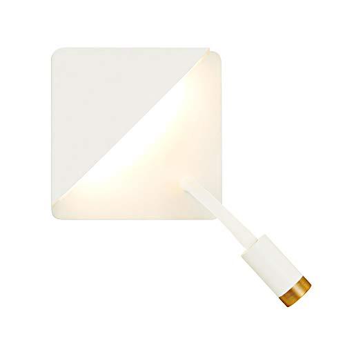 ZHCSYL Lámparas de pared Antecedentes del estudio creativo Lámpara de pared moderna minimalista ajustable LED blanco lectura pared de luz con el interruptor de la lámpara del proyector dormitorio de
