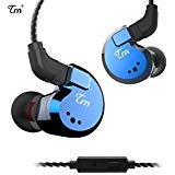 Linsoul TRN V80 2BA+2DD Quad Driver Hybrid HiFi Metal in Ear Earphone IEM with 2 Pin Detachable Cable, 1.25m (with Mic, Blue)