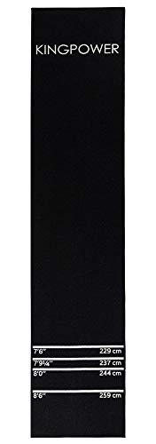 Kingpower Dartmatte, Dart Teppich Turnier Matte als Abwurflinie und Bodenschutz in 2 Größen, 237cm und 290cm, Auswahl:Design 17 (Schwarz 290 x 60 cm)