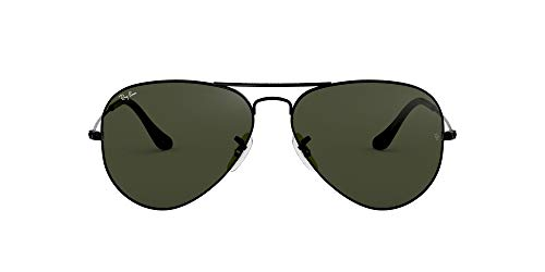 RB3025 Aviator Classic Sunglasses, Black/Green, 58 mm