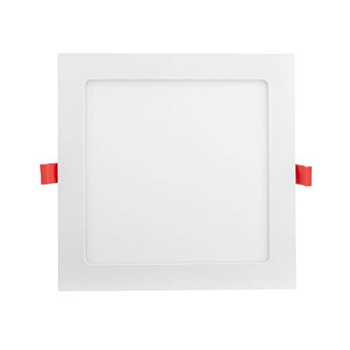 Xanlite DOP1400CCW - Foco empotrable cuadrado, 1400 lúmenes, 18 W, blanco neutro