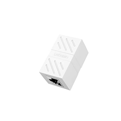 UGREEN RJ45 LAN Kupplung Netzwerk Verbinder Ethernet Koppler LAN Adapter für LAN Kabel, Netzwerkkabel, Patchkabel, Ethernet Kabel, Internet Kabel, RJ45 Coupler für Cat8, Cat7, Cat6, Cat5e (Weiß)