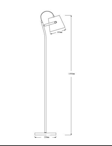 YHtech De pie luminarias de pie luminarias de Simple Living Estudio Moderno dormitorio de noche personalidad naturales de luz vertical de pie luminarias for el bulbo de la sala Incluyó