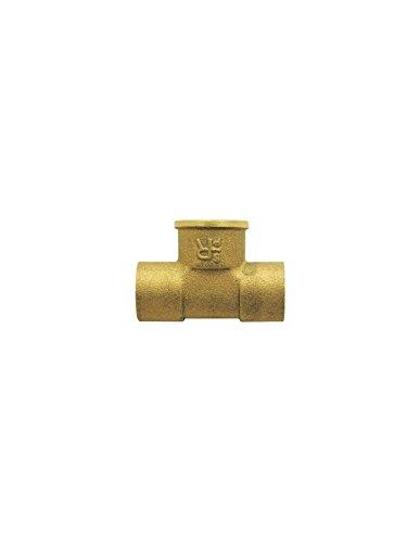 Té droit avec filetage Femelle au centre Raccords - Filetage 15 x 21 mm - Diamètre 16 mm - Vendu par 1
