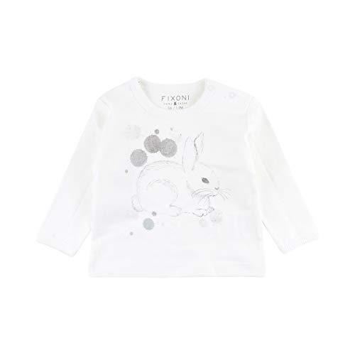 Fixoni Le T-shirt à manches longues lapin top bébé vêtements bébé, 00-31 Off White
