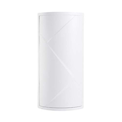 Estante de almacenamiento de rotación de 360 grados Oficina Hogar Baño Triángulo Estante Cocina (Blanco)