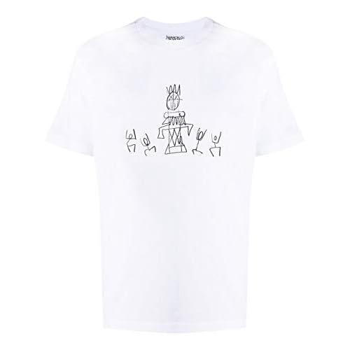 MARCELO BURLON Luxury Fashion Uomo CMAA018E20JER0150110 Bianco Cotone T-Shirt | Autunno-Inverno 20