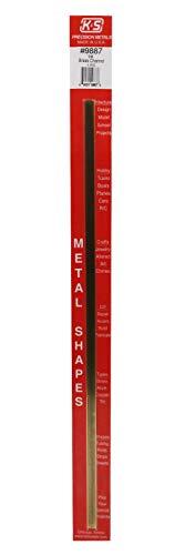 K&S Precision Metals 9887 Brass Channel, 1/4