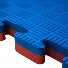 Mugar- Tatami Puzzle 100x100x2,5cms Azul y Rojo Reversible Esterilla Goma Espuma Estructura Pack Ideal Artes Marciales, Judo, Taekwondo, Karate, Yoga, Pilates-Suelo Tatami Japonés (4m2)