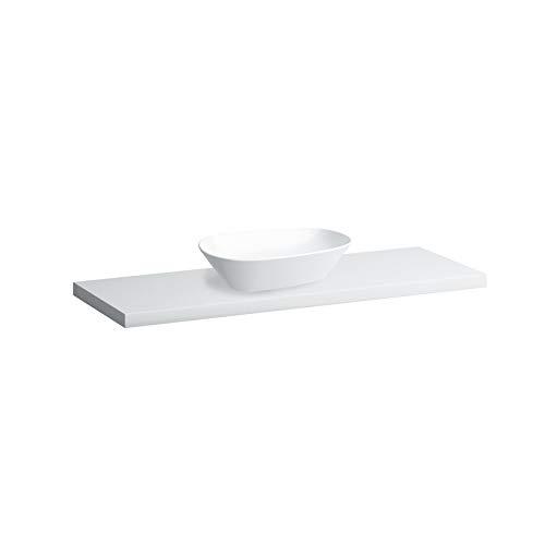 Laufen Palomba Waschtisch-Schale, ohne Hahnloch, mit Überlauf, mit Hahnlochbank, 600x400, Farbe: Weiß