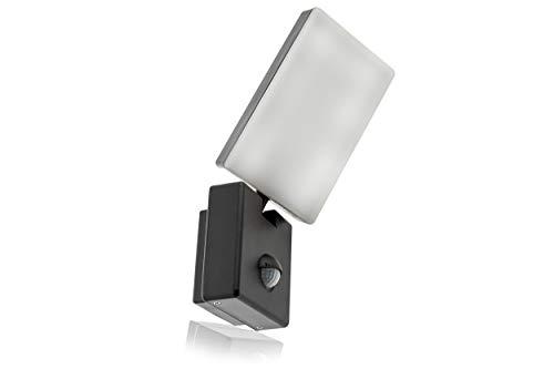 HUBER LED Wandlampe mit Bewegungsmelder 140° 10W, 800lm, IP54 LED Außenleuchte mit Bewegungssensor I Wandleuchte innen, schwenkbar, drehbar, anthrazit