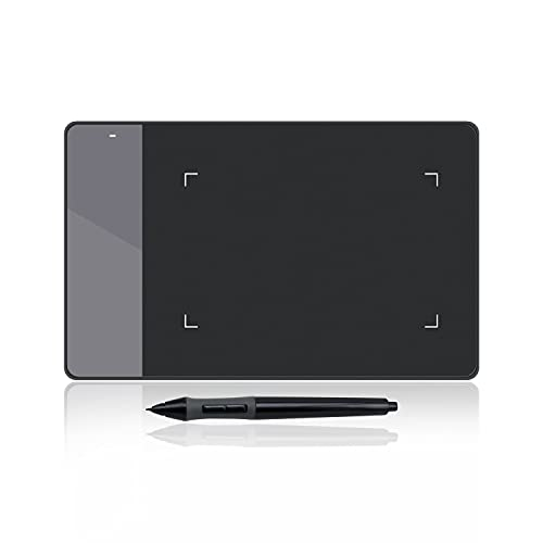 Huion 420 Negro 4-por-2.23 Pulgadas OSU! Tableta Gráfica para Dibujo con Digitalizador de Firma para Mac y Windows PC