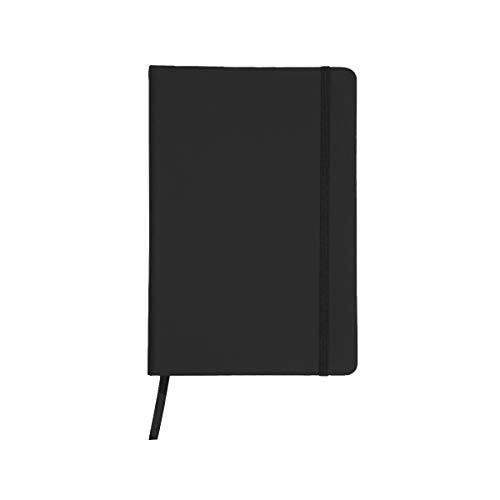 Projects Notizbuch 'Business' DIN A5 - liniertes umweltfreundliches 80 g/m2 FSC-Papier 192 Seiten, Hardcover mit Softtouch-Bezug aus PU & Lesezeichen & Verschlussband – vielseitig verwendbar (schwarz)