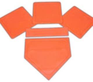 Orange Throw Down Bases (5 Piece)
