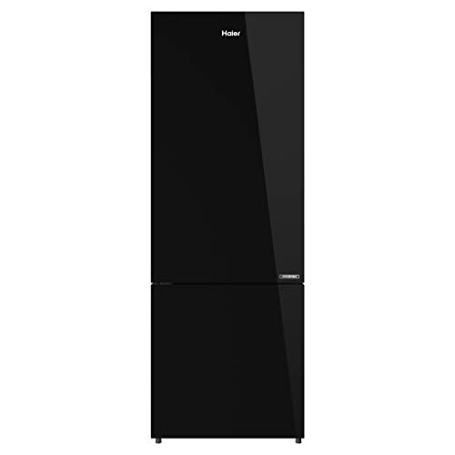 Haier 276 L 3 Star Inverter Frost-Free Double Door Refrigerator (HRB-2964PBG-E, Black Glass, Bottom Freezer)