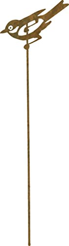 Cornali Stick in Metallo Decorazione da Giardino e da Vaso. PASSEROTTO. Set Tre Pezzi. Prodotto artigianalmente in Italia.