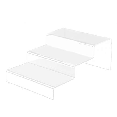 3 Schritt Treppe Klar Acryl Display Risers Regal Schaufenster Ständer für Schmuck Kosmetik Makeups Handwerk Figur Dekorationen
