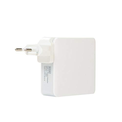 65W PD Charger QC3.0 Fast Charge PD+QC3.0 Quick Charger for Apple Tablet Phone White
