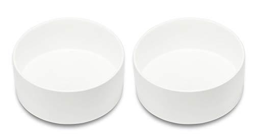 Supremery - Set di 2 ciotole in ceramica per gatti e cani
