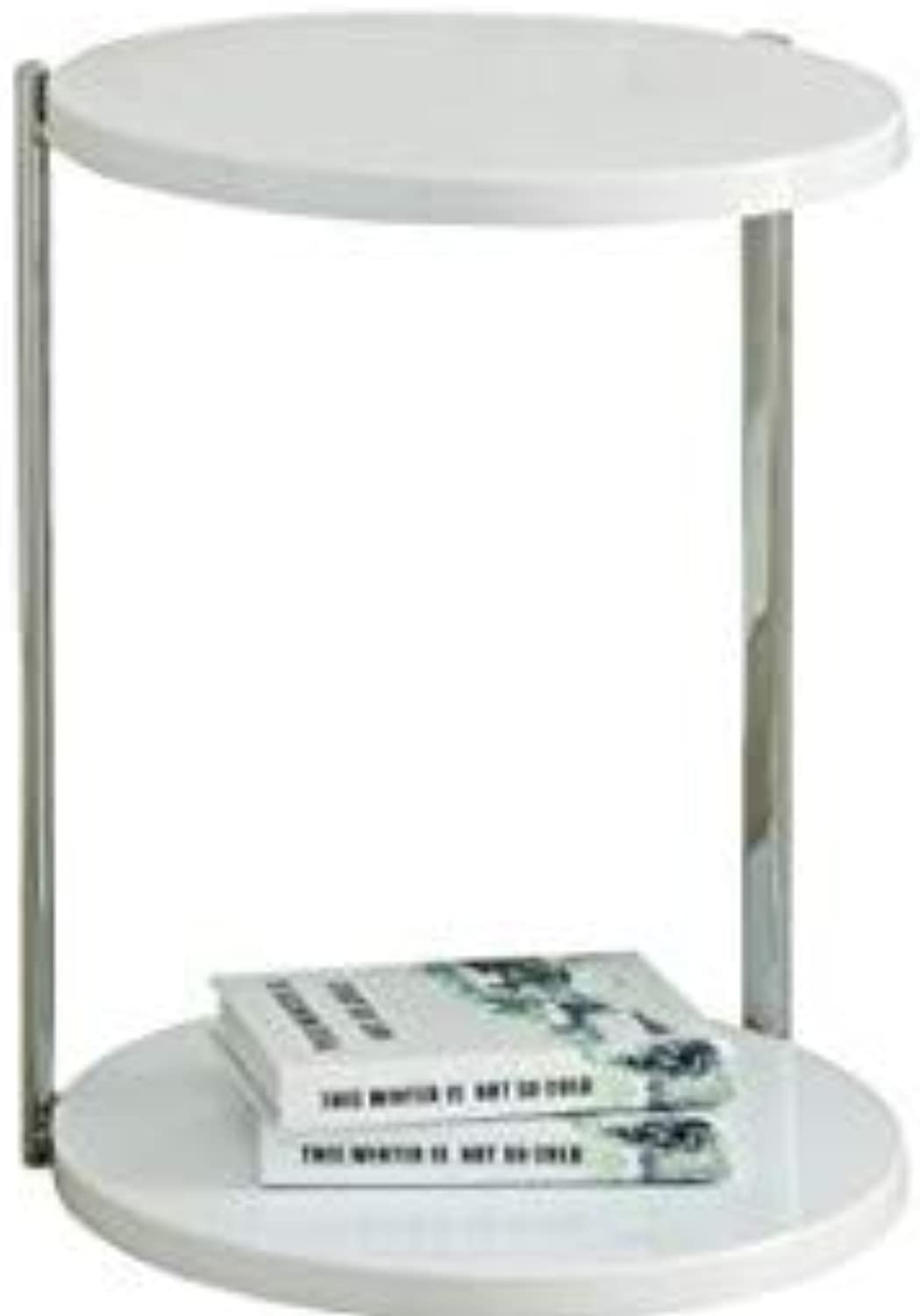 Monarch Specialties Metal Accent Table, White Chrome