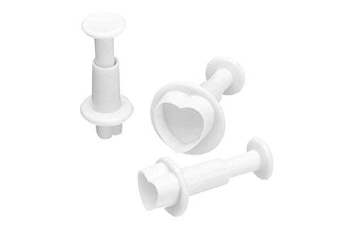 KitchenCraft Sweetly Does It Fondant Cutter Set for Cake Decorating, Heart Moulds, Pack of 3