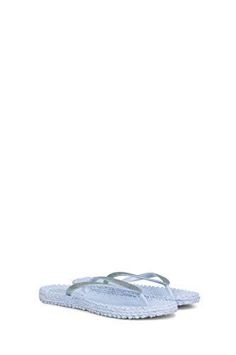 ILSE JACOBSEN HORNBÆK | Cheerful01 | Damen Flip Flops mit Glitter | Dänische Design | Sommer Strand Zehentrenner | Bluebell | 38 EU