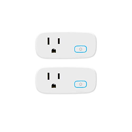 Zigbee Smart Plug 15A can be paired with Alexa Echo Studio Echo Plus (2nd) Echo Show (2nd) Smartthings Hub Voice Pairing Voice Control Remote Control of Alexa Accessories 2 Pack