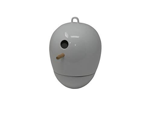 Gilitzer hochwertiges Design Keramik Vogelhaus - Nistkasten - Egg Porzellan weiß Einflugloch 22 mm