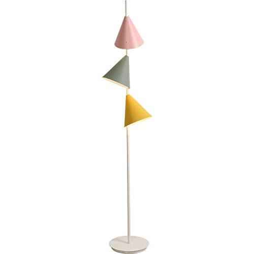 CLJ-LJ Lámpara LED de pie con luz interior, de tres vías, moderna cromo, lámpara de pie, completamente con el Nordic Style rosa, verde y amarillo