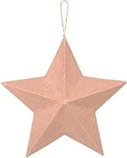 Darice Bulk Buy Core'dinations Paper Mache Star Ornament 2 inch (12-Pack)
