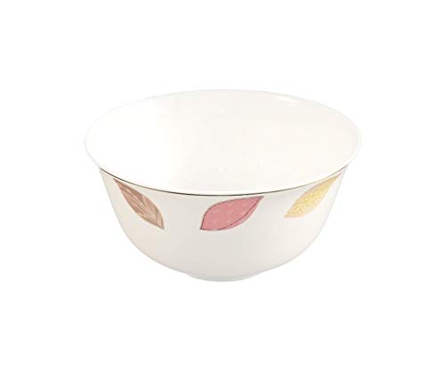 AnnoCasa Fine Bone China Bowls, 4.3-Inch Colorful Leaf, Set of 6