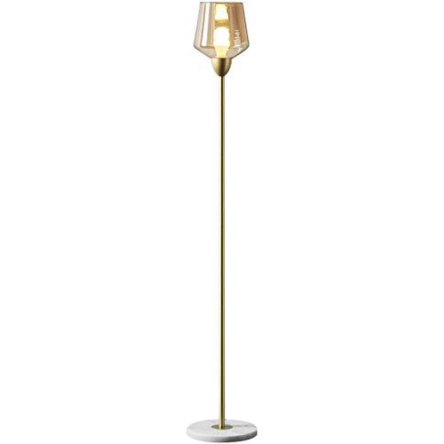 Lámparas de pie para salón Modern Lámpara de pie Vertical de Vidrio Creativo Sala de Estar Dormitorio Lámpara de pie Lámpara de pie Lámparas de pie para Dormitorio (Color : A)