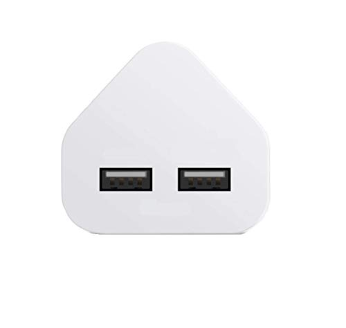 SS Tech Adaptador de enchufe de cargador USB de 2 A [enchufe de 3 pines] de carga rápida compatible con todos los cables USB