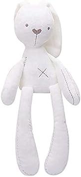 Conejo patas largas peluche blanco Bellverbox